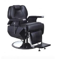 Fauteuil coiffeur homme cuir noir à louer