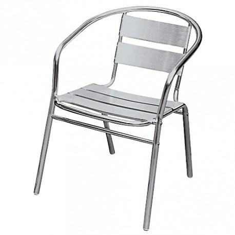 location fauteuil de terrasse en inox - Fauteuil Terrasse