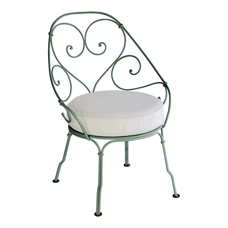 Fauteuil de jardin en fer forg location de meubles - Fauteuil en fer forge ...