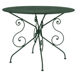 Location table de jardin ronde en métal