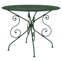 Location table de jardin ronde en métal diamètre 96 cm