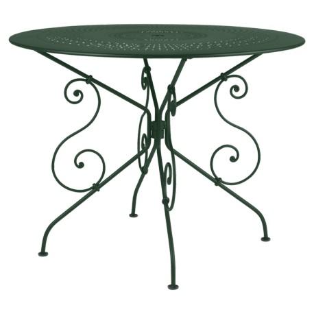 Location table de jardin ronde en métal diamètre 67 cm