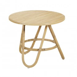 Table basse ronde en canne naturelle