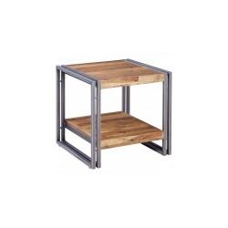 Location bout de canapé en metal et bois