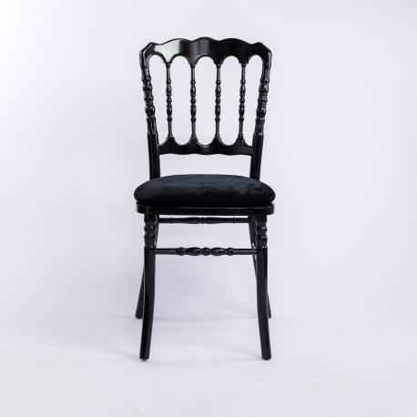 Location chaise napoleon argent et rouge