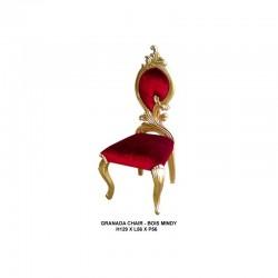 Location chaise mariage argenté et simili cuir blanc