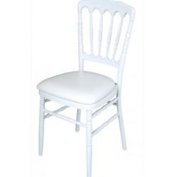 Chaise Napoleon blanche en polycarbonate
