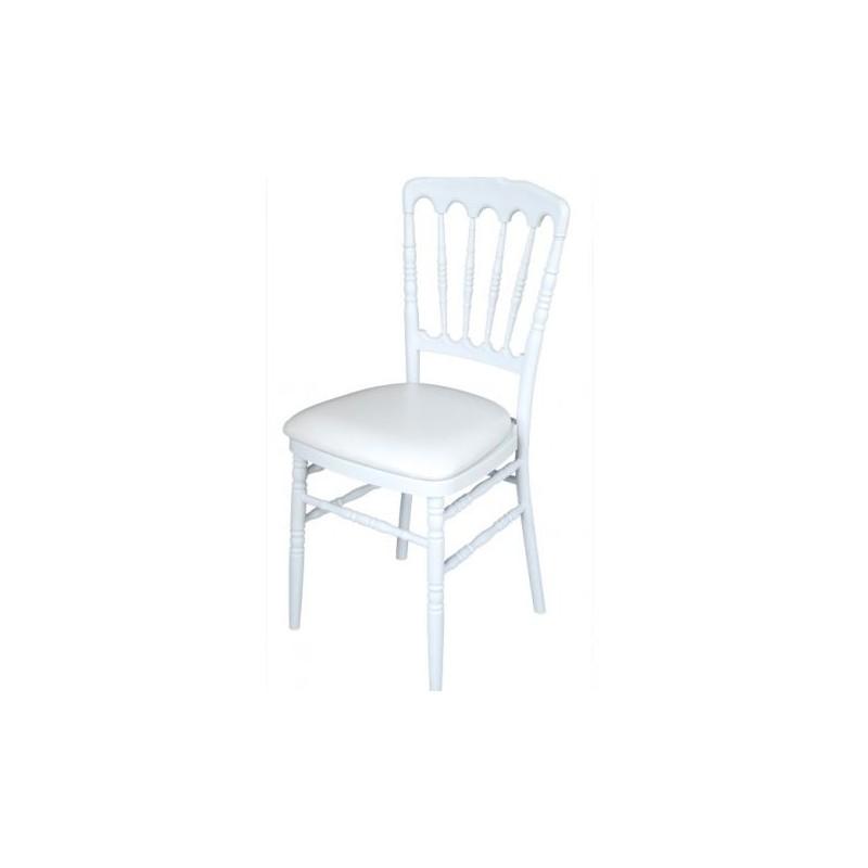 chaise napoleon blanche en polycarbonate location de meubles. Black Bedroom Furniture Sets. Home Design Ideas