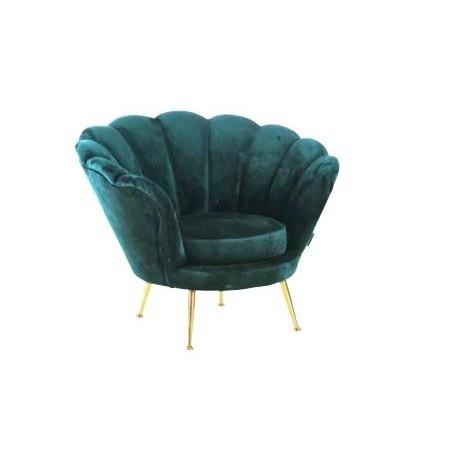 Location fauteuil en velours noir