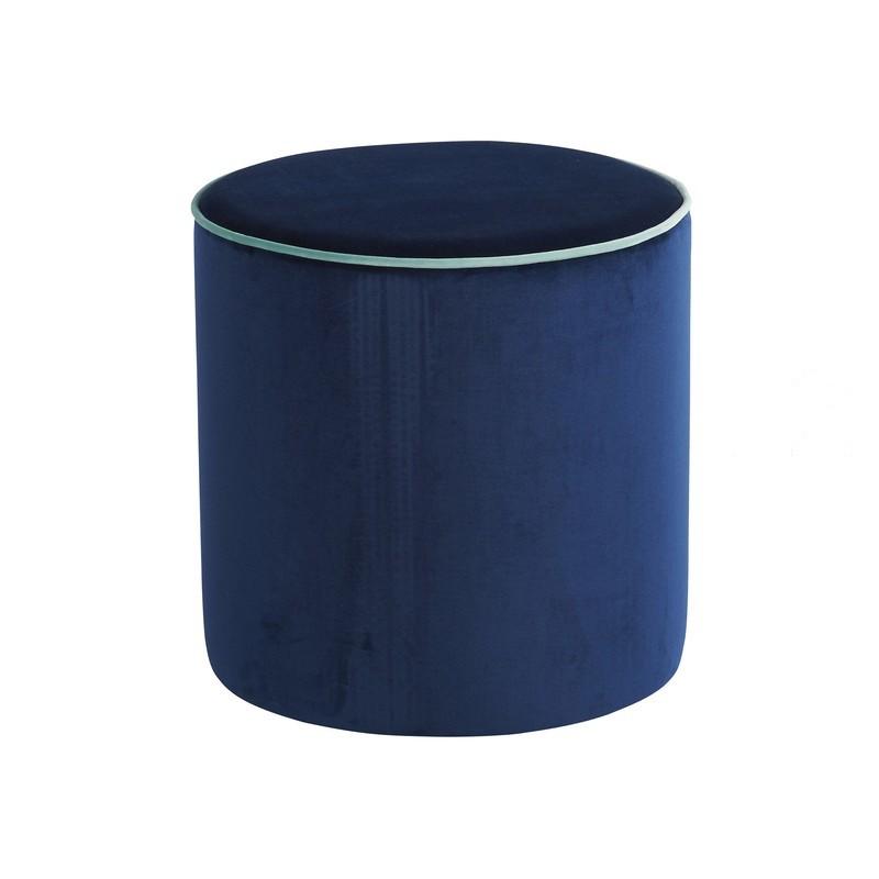 pouf rond en velours louer location de meubles. Black Bedroom Furniture Sets. Home Design Ideas