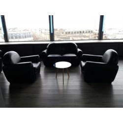Location de Fauteuil club 1 place cuir choco
