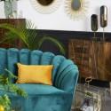 Canapé en velours vert