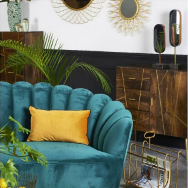 Canap en velours vert location de meubles - Canape velours vert ...
