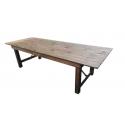 Table pliante en bois de style rustique à louer