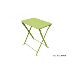 Table basse de jardin vert anis