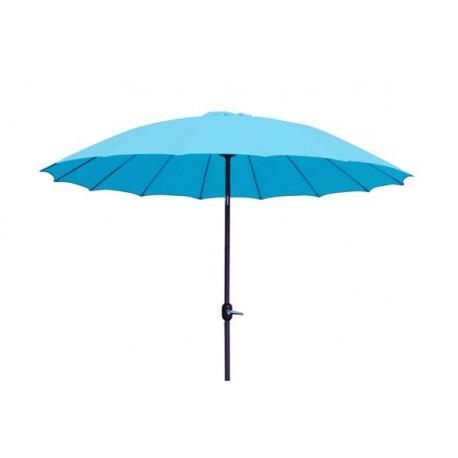 Parasol en toile bleue à louer