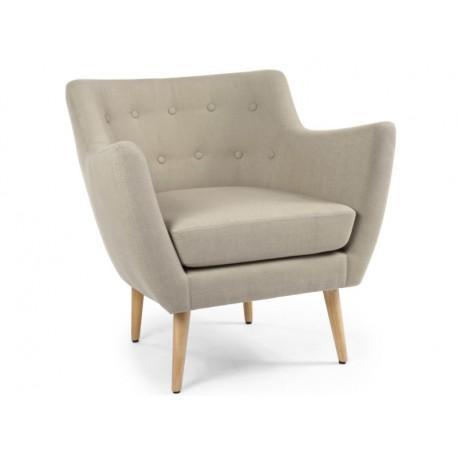 Location fauteuil scandinave beige