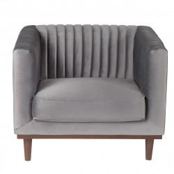 Location fauteuil en velours gris
