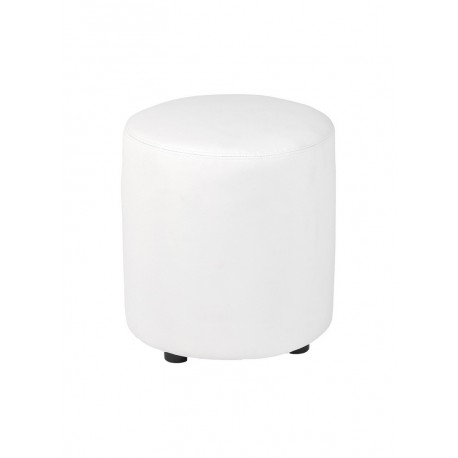 Location pouf simili blanc