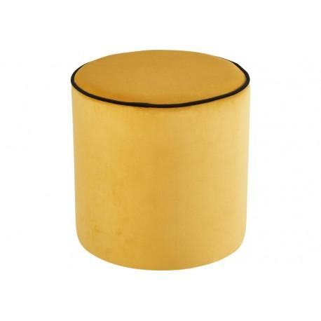 Pouf rond jaune à louer