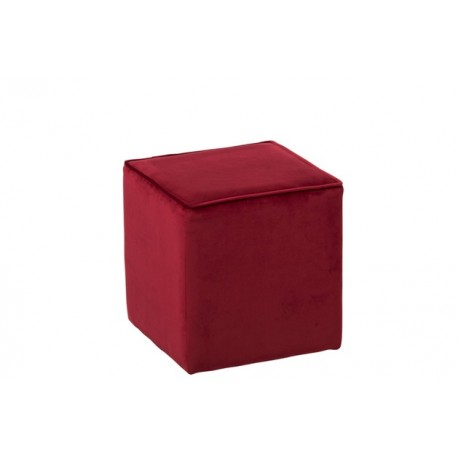 Location pouf en simili blanc