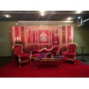 Location de Banquette En Velours Rouge Modele Grandfather 2 Plac
