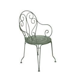 Locatin chaise de jardin en fer forgé