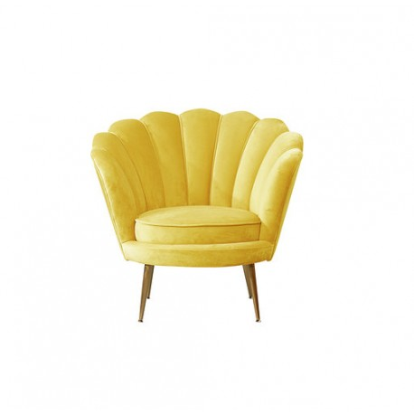Location fauteuil coquillage jaune