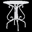 Table de jardin blanche D 67 cm