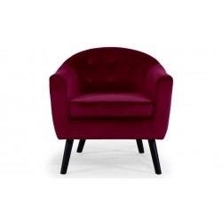 Location de fauteuil en velours rouge