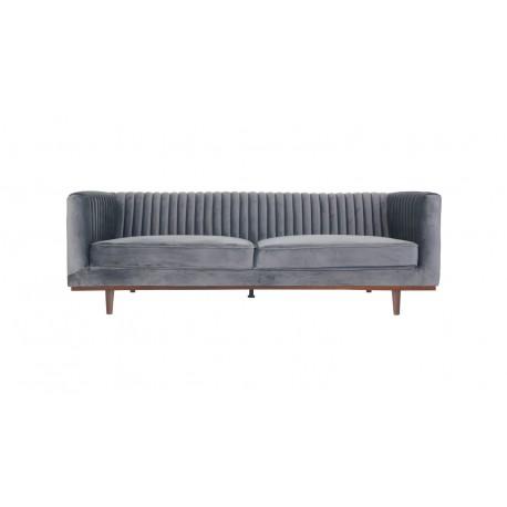 Location canapé en velours gris