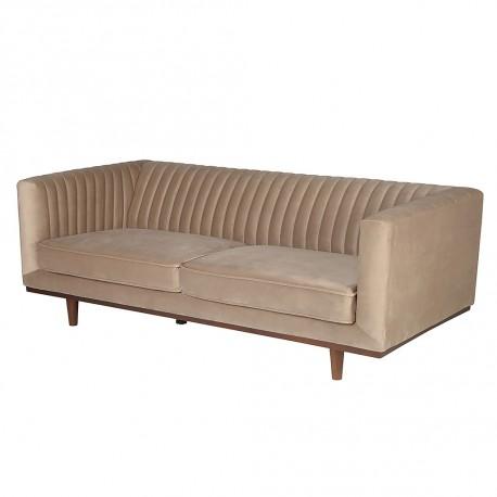 Location canapé 3 places en velours beige