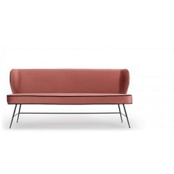 Canapé lounge rose poudré