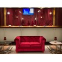 Location canapé Chesterfield en velours rouge