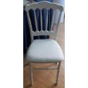 Chaise napoleon 3 noir et galette blanche capitonnée