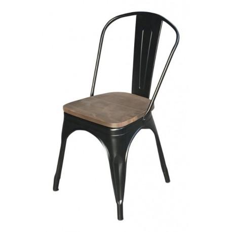 Location chaise metal noir