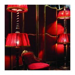 Lampe en velours rouge à louer