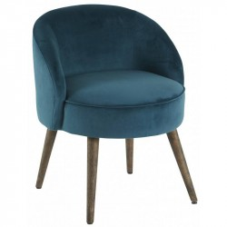 Fauteuil style scandinave moutarde