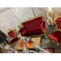 Location banquette 2 places velours rouge