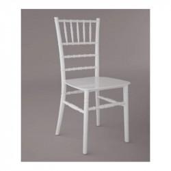 Chaise Tiffany blanche à louer