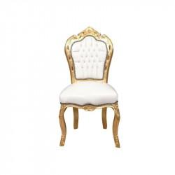 Chaise baroque doré - Location