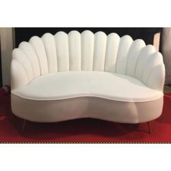 Location canapé simili cuir blanc