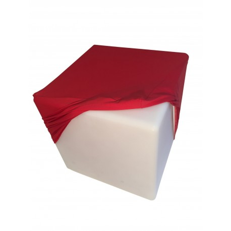 Location pouf en simili blanc