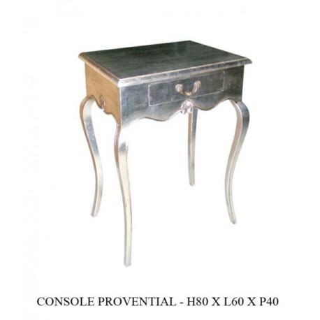 Console Baroque En Bois Argente Proventiale
