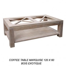 Table Basse Marquise Cerusee 120 X 60 Cm