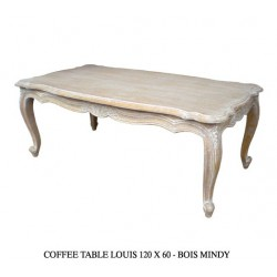 location Table Basse Louis Xv Cerusee 120 X 60 Cm