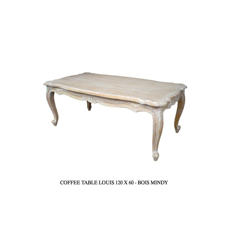 Location table basse bois c rus - Table basse bois blanc ceruse ...