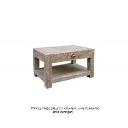Location Table Basse En Bois Cérusé Modele Sally 80 X 80 Cm