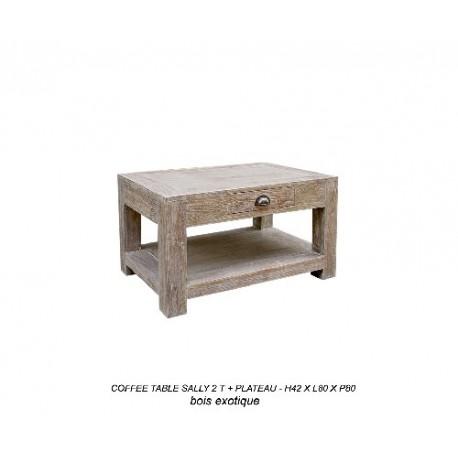Location Table Basse En Bois C'érusé' Modele Sally 80 X 80 Cm