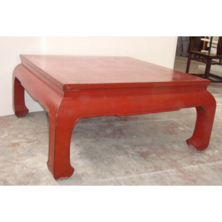 Table basse de couleur rouge chine for Table de nuit chinoise
